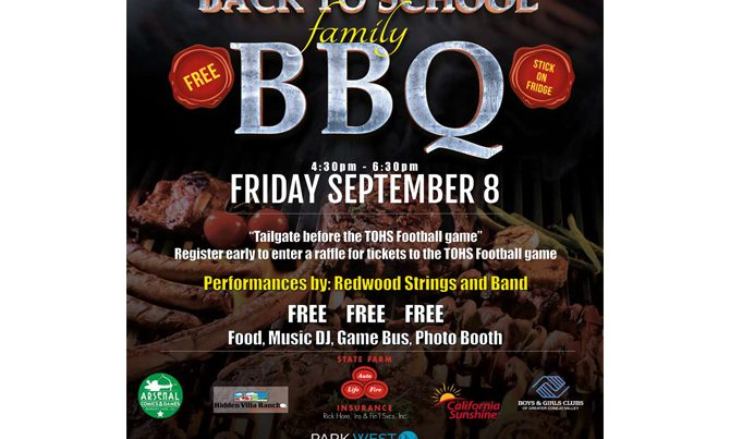 Redwood Middle School BBQ Flyer