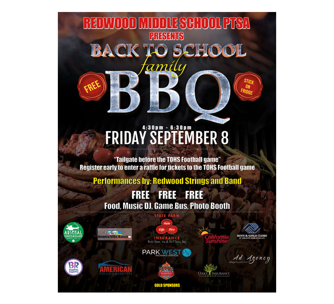 Redwood Middle School Flyer